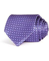 Bloomingdale's Geometric Woven Silk Classic Tie - Purple
