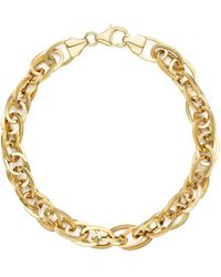 Bloomingdale's - 14k Yellow Gold Oval Links Chain Bracelet - Lyst