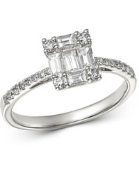 Bloomingdale's Diamond Baguette Mosaic Engagement Ring In 14k White Gold