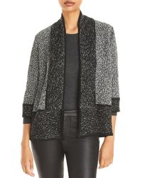 Karl Lagerfeld Marbled Open Front Cardigan - Black