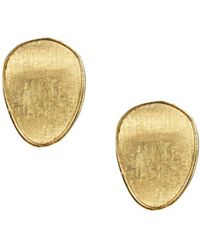 Marco Bicego - 18k Yellow Gold Lunaria Stud Earrings - Lyst