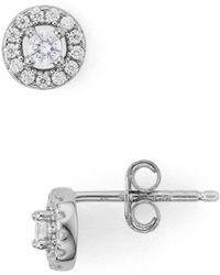 Aqua - Mini Halo Earrings In 18k Gold - Plated Sterling Silver Or Platinum - Plated Sterling Silver - Lyst