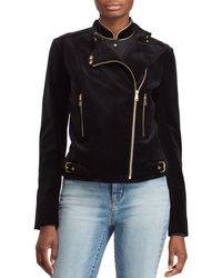 Ralph Lauren - Lauren Velvet Moto Jacket - Lyst