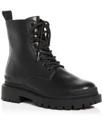 Aqua Quinn Combat Boots - Black
