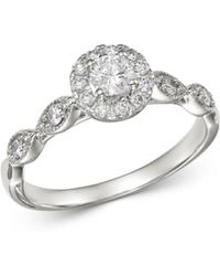 Bloomingdale's - Round Diamond Engagement Ring In 14k White Gold - Lyst