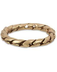 AllSaints Chain Band Ring - Metallic