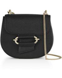 Reiss Maltby Mini Leather Crossbody - Black