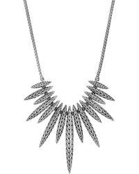 John Hardy - Sterling Silver Classic Chain Bib Necklace - Lyst