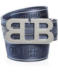 Bally Mirror B Reversible Belt - Blue