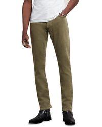 John Varvatos Bowery Slim Straight Jeans In Sandstone - Green