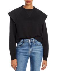 Rebecca Minkoff Zenya Flared - Shoulder Sweatshirt - Black