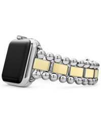 Lagos 18k Yellow Gold Smart Caviar Appletm Watch Band - Metallic