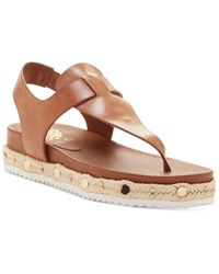 Vince Camuto Aeronta Flat Sandals - Brown