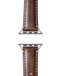 Shinola Leather Strap For Apple Watch® - Brown