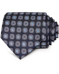 Bloomingdale's Oakville Floral Medallion Silk Classic Tie - Blue
