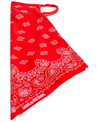 Zadig & Voltaire Bandana Face Mask - Red