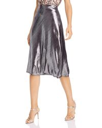 Aqua Midi Slip Skirt - Metallic