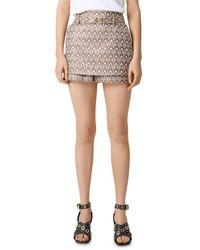 Maje Imperio Skirted Shorts - Metallic