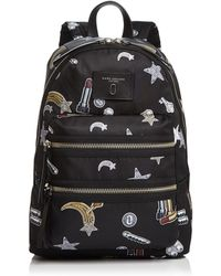 Marc Jacobs - Biker Tossed Charms Print Nylon Backpack - Lyst