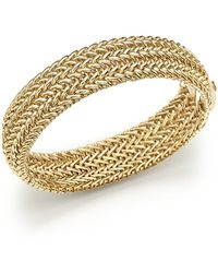 Bloomingdale's - 14k Yellow Gold 3-row Link Bangle - Lyst