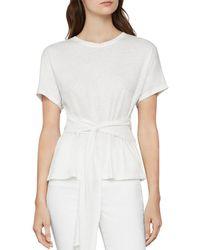 BCBGMAXAZRIA Wrap - Front T - Shirt - White