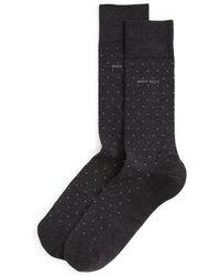 BOSS | Mercerized Dot Socks | Lyst