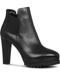 AllSaints - Women's Sarris Leather High Heel Booties - Lyst