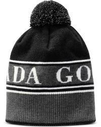 e7ddb244832 Canada Goose Plaid Wool-blend Hat in Black - Lyst