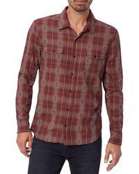 PAIGE Embellished Plaid Shirt - Red