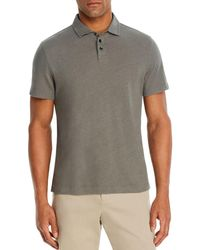 Bloomingdale's Linen & Cotton Solid Classic Fit Polo Shirt - Grey