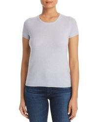 C By Bloomingdale's - Short Sleeve Cashmere Sweater - Lyst