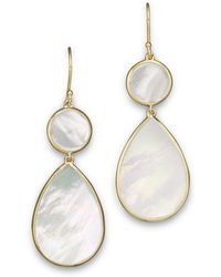 Ippolita - 18k Gold Polished Rock Candy 2 Drop Earrings In Mother-of-pearl - Lyst