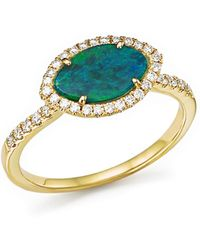 Meira T | 14k Yellow Gold Opal Marquise Ring With Diamonds | Lyst