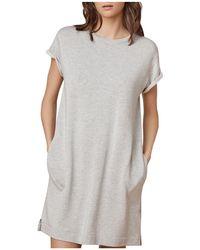 Velvet By Graham & Spencer - Winona Terry Sweatshirt Dress - Lyst