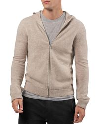 ATM Wool & Cashmere Solid Slim Fit Hoodie - Multicolour