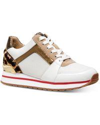 MICHAEL Michael Kors Women's Billie Mixed Media Sneakers - Multicolor