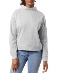 Alternative Apparel Mock Turtleneck Sweatshirt - Grey