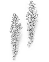 Bloomingdale's Cascade Diamond Drop Earrings In 14k White Gold