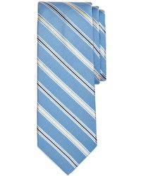 Brooks Brothers - Double Track Stripes Silk Classic Tie - Lyst