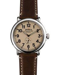 Shinola The Runwell Dark Coffee & Cream Dial Watch - Brown