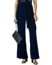Whistles Tie - Waist Velvet Trousers - Blue