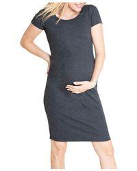 Ingrid & Isabel Maternity Short - Sleeve T - Shirt Dress - Grey