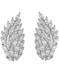 Bloomingdale's Diamond Feather Drop Earrings In 14k White Gold