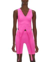 Helmut Lang Double Seamless Jersey Bra - Pink