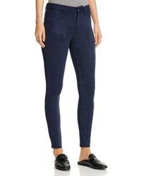 Level 99 Janice Faux - Suede Skinny Jeans - Blue