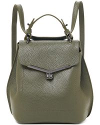 Botkier Valentina Leather Convertible Backpack - Green