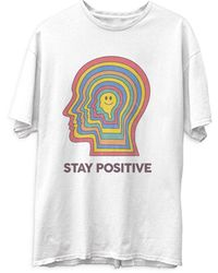 Junk Food Stay Positive Tee - White