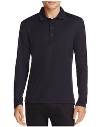 Billy Reid - Smith Long Sleeve Polo Shirt - Lyst