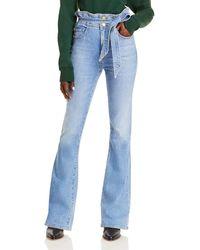 Ramy Brook Natalia Cotton Flare Jeans In Lightwash - Blue
