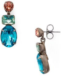 Sorrelli Forget - Me - Not Drop Earrings - Multicolour